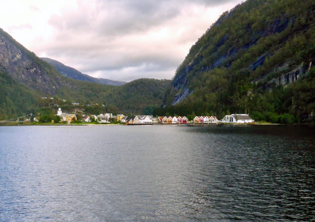fjord cruise wooden houses