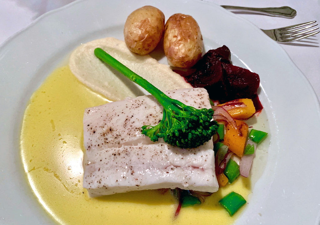 steamed halibut with beurre blanc