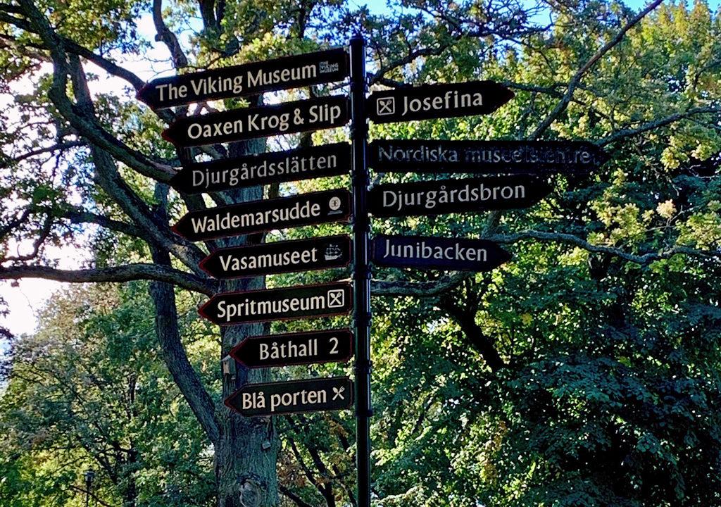 Djurgården sign, Stockholm, Sweden