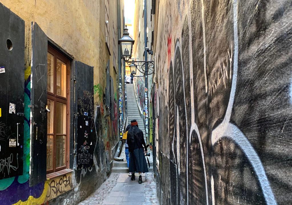 Gamla Stan alley, Stockholm, Sweden