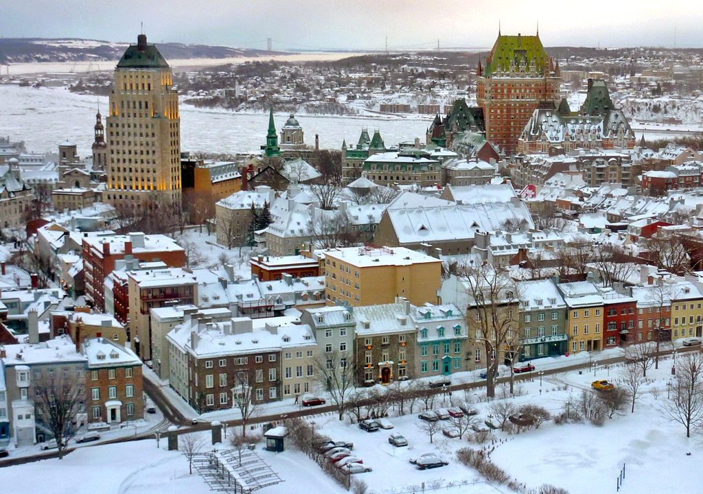 The Price Tower looms above Quebec City's Upper Town