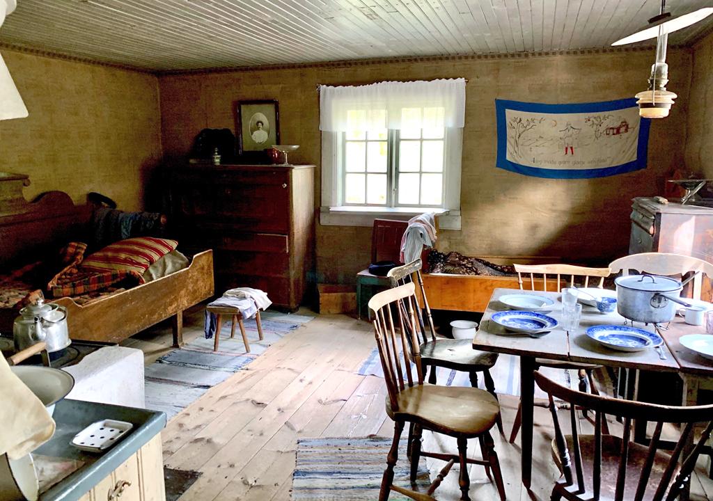farm laborer's house, Skansen, Stockholm, Sweden