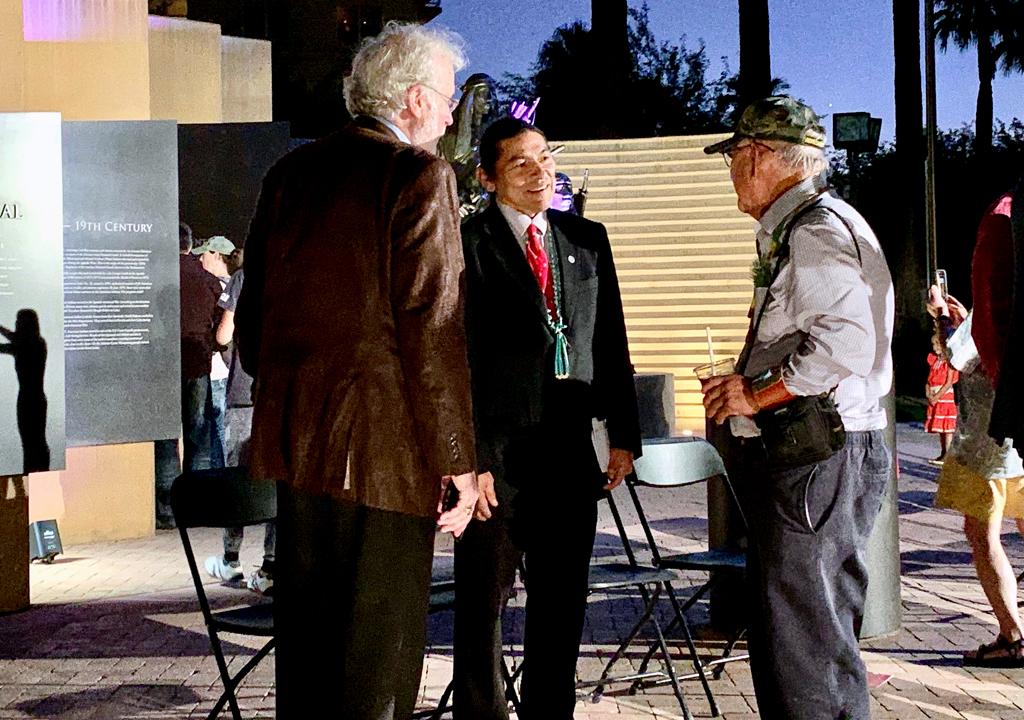 Michael Smith and World War II veteran, Heard Museum_ Arizona
