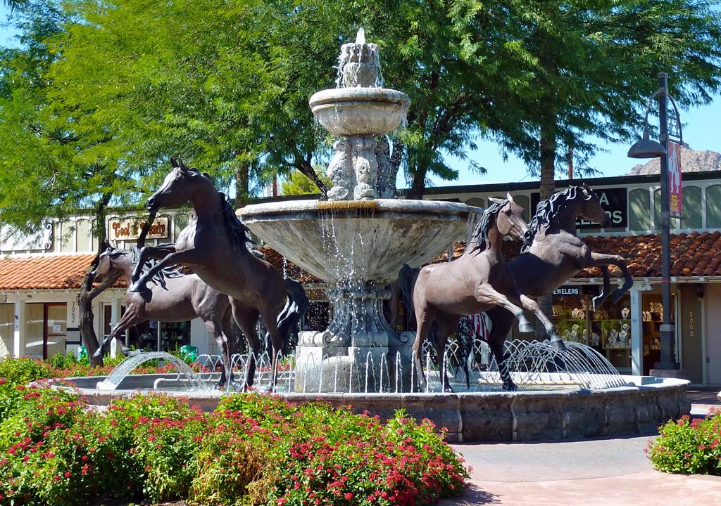 Bronze Horse Fountain, Scottsdale, Arizona