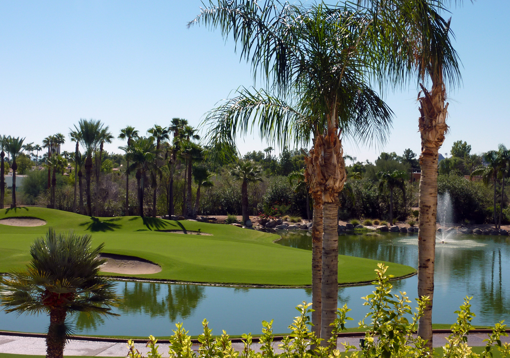 golf course at the Phoenician, Scottsdale, Arizona
