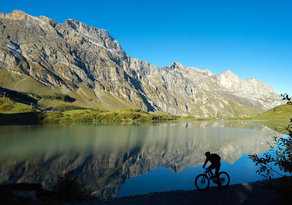 Mountainbiking in Truebsee. Photo copyright Switzerland Tourism